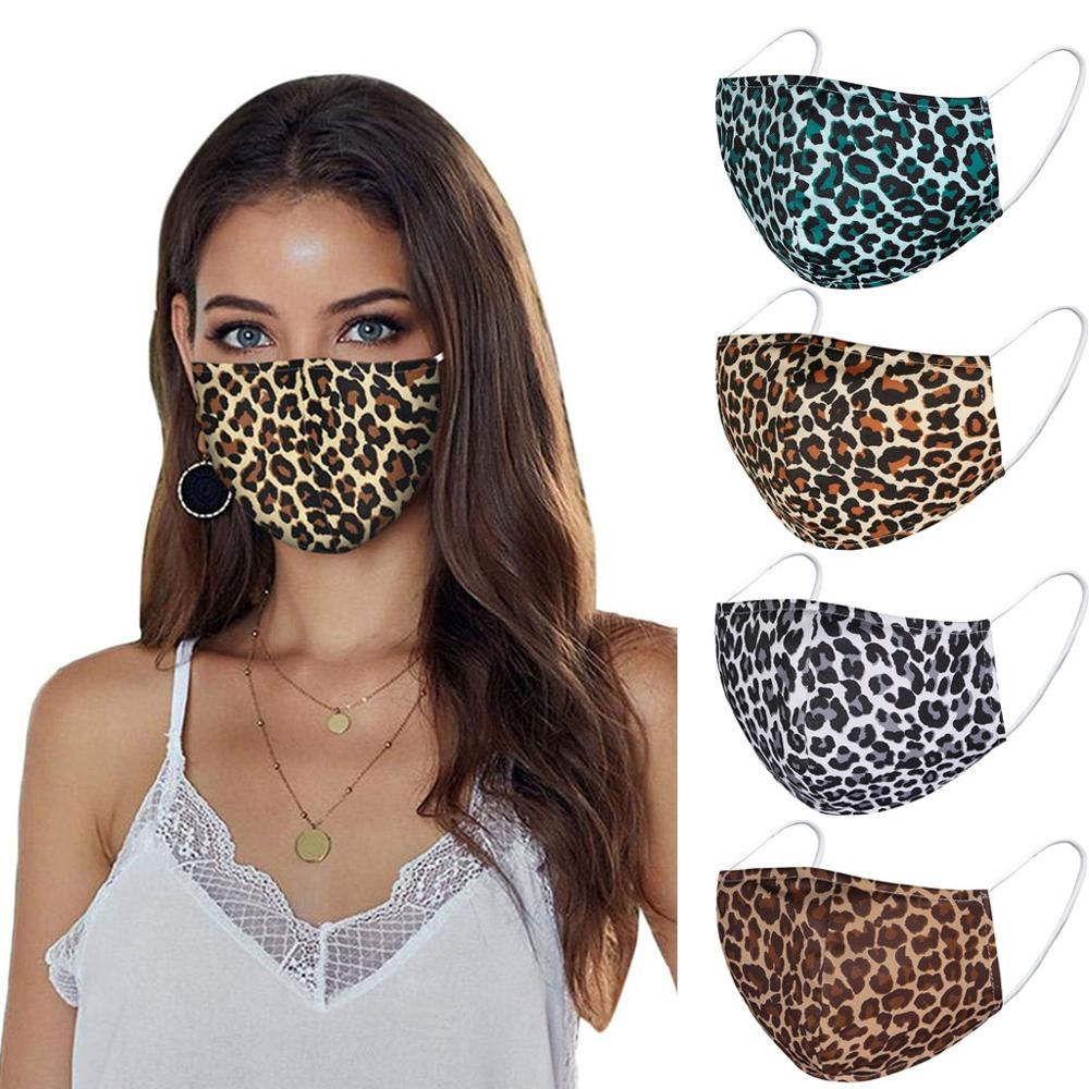 Leopard Print Reusable Face Mask - Fitines